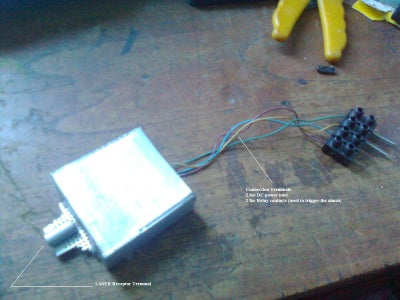 LASER Trip Wire Alarm Circuit