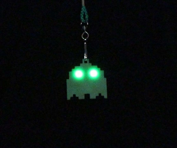 3D Printed Ghost Pendant With LED Eyes