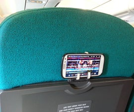 Phone Mount on Plane Seat