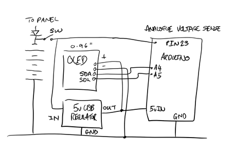 Fit the USB Power Regulator, the OLED and the Arduino Nano