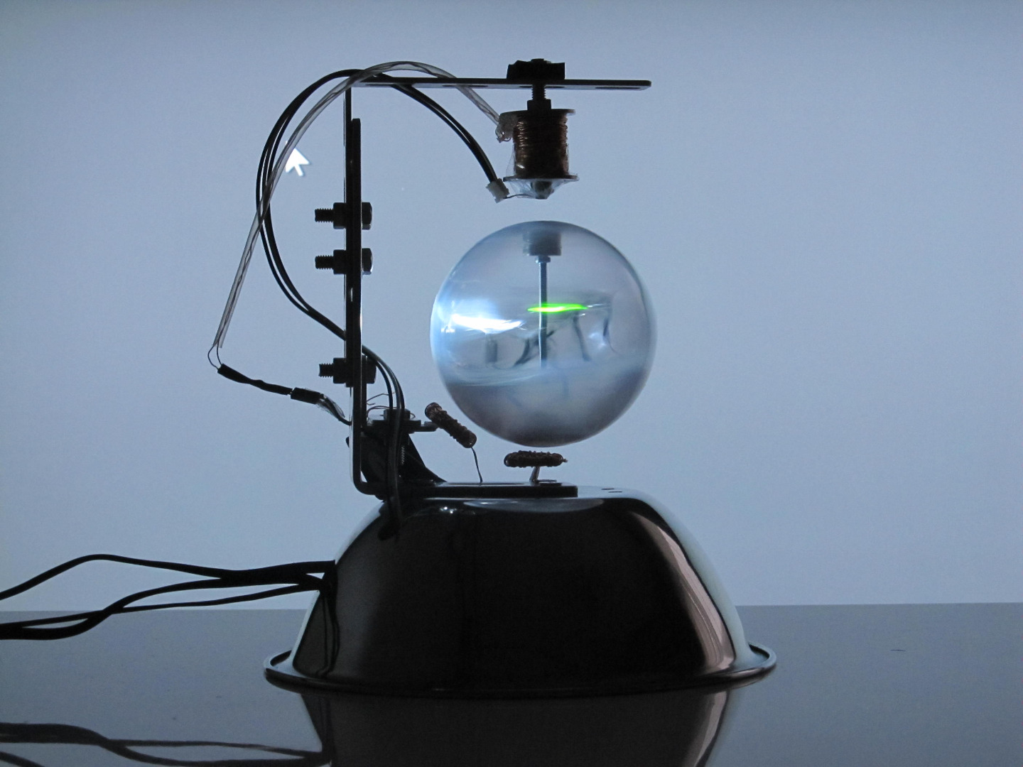 Picture of A Levitating Sphere Rotates Glows and Blinks With Arduino