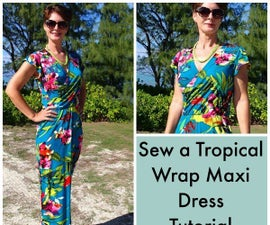 How to make this wrap maxi dress