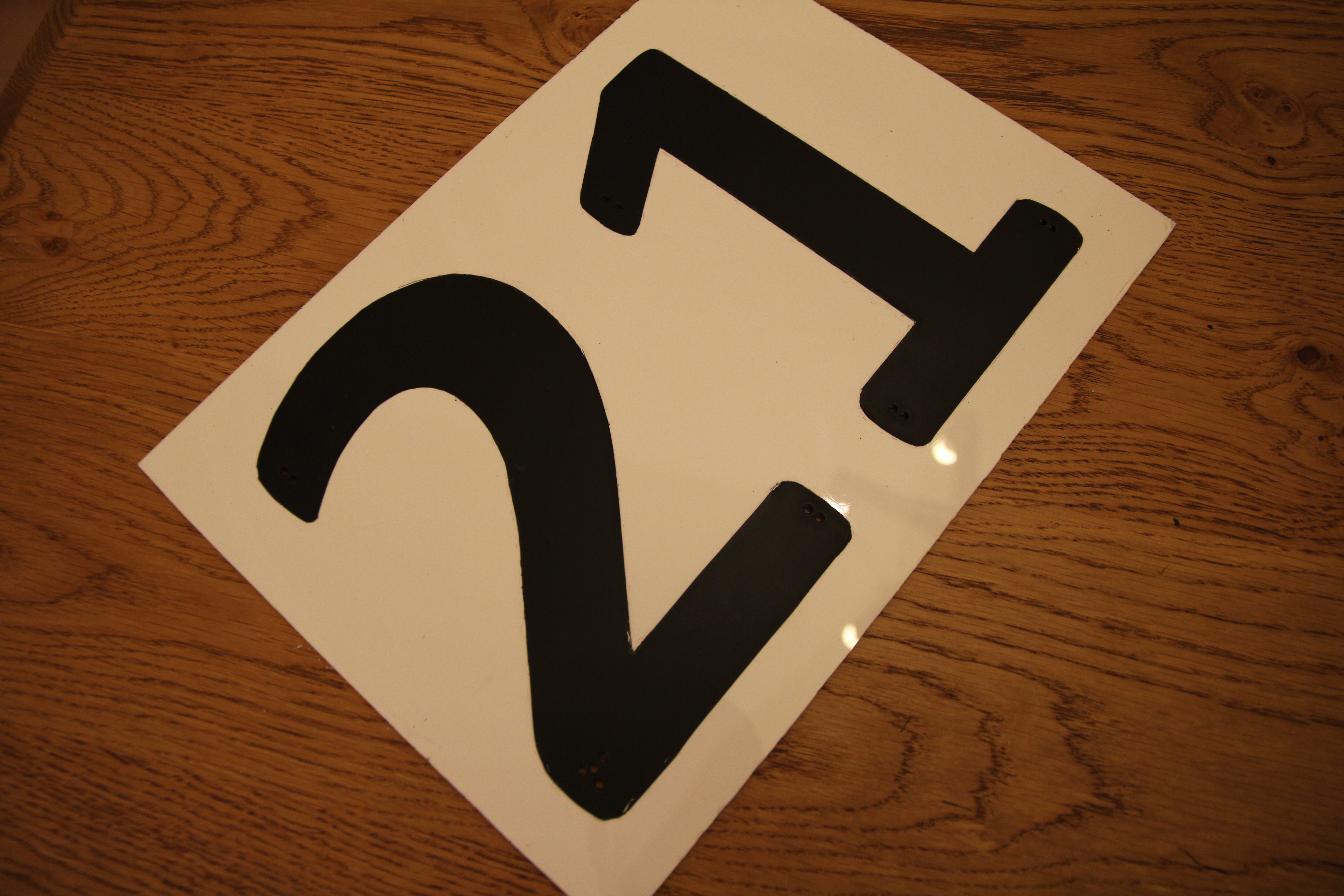 Picture of Spray Painting Number.....