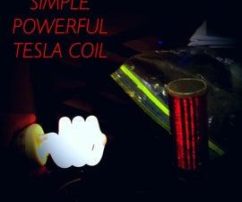 Simple Powerful Tesla Coil