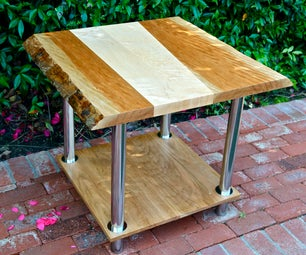 Live-Edge End Table