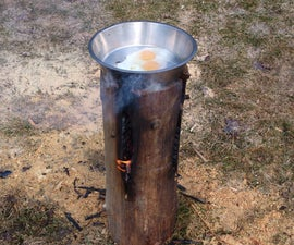 How to make a Swedish Fire Torch (AKA Canadian Candle)