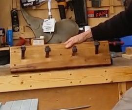 The railway spike coat rack/shelf