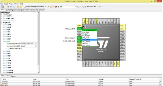 Create New Project in STMCube MX
