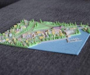3D Printed Town : Lac-Mégantic