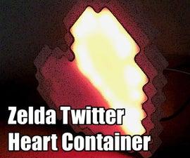 Twitter Activated Zelda Heart Container