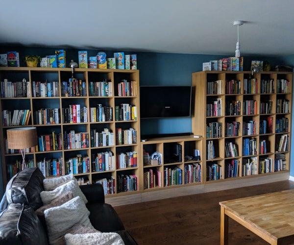 Built in Ikea Bookshelf - Full Wall