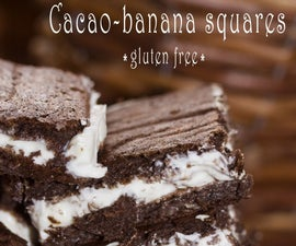 Cacao-banana Squares With Cottage Cheese