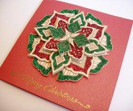 Christmas medallion card