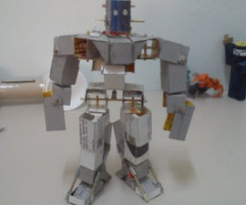 Moveable action figure out of recycled items