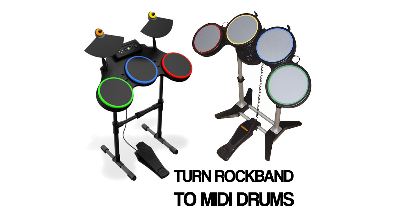 Picture of Convert Rockband Controller to MIDI Drums