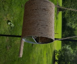 Upcycling a Twine and Tin Can Birdfeeder