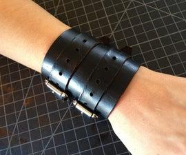 Leather wrist wraps/cuffs