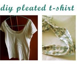 DIY Pleated T-Shirt