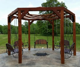 Hexagon Swing With Sunken Fire Pit