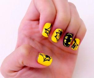 Batman Inspired Manicure