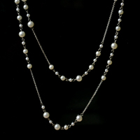 Picture of ​The Final Look of the Layered Pearl Necklace With Chain Looks Like This: