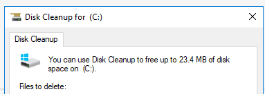 Picture of Free Up Drive Space in Windows 10 Using Disk Cleanup