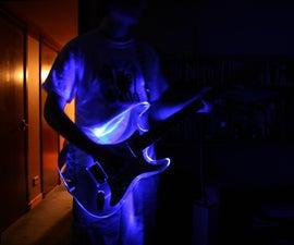 Acrylic Guitar LED mod
