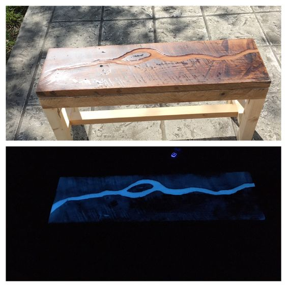 Picture of Glow River Bench