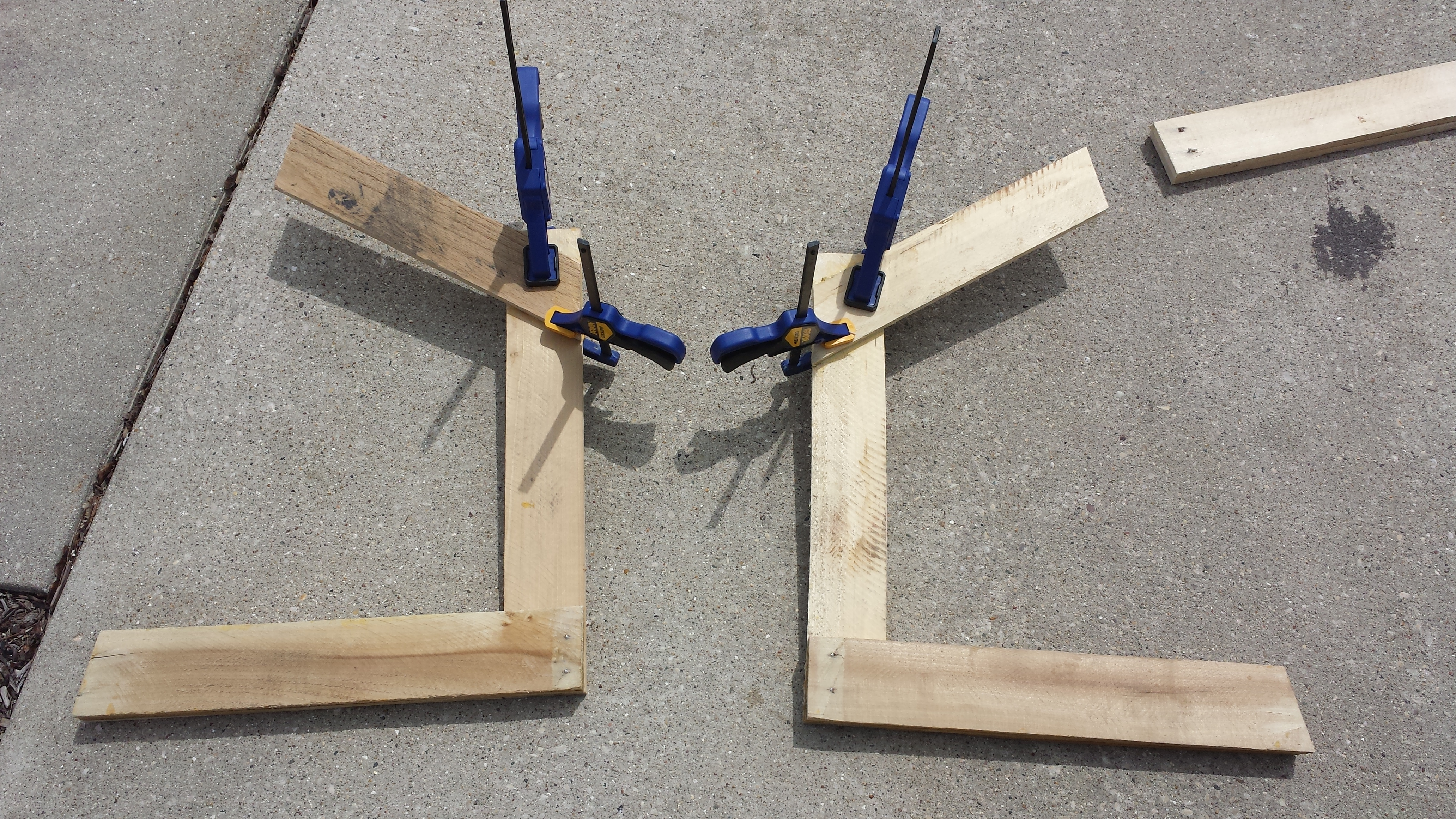 Picture of Gluing the Side Pieces Together