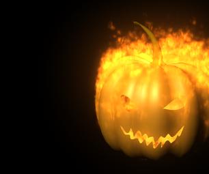 3D Jack O' Lantern in MAYA With Fire Effect