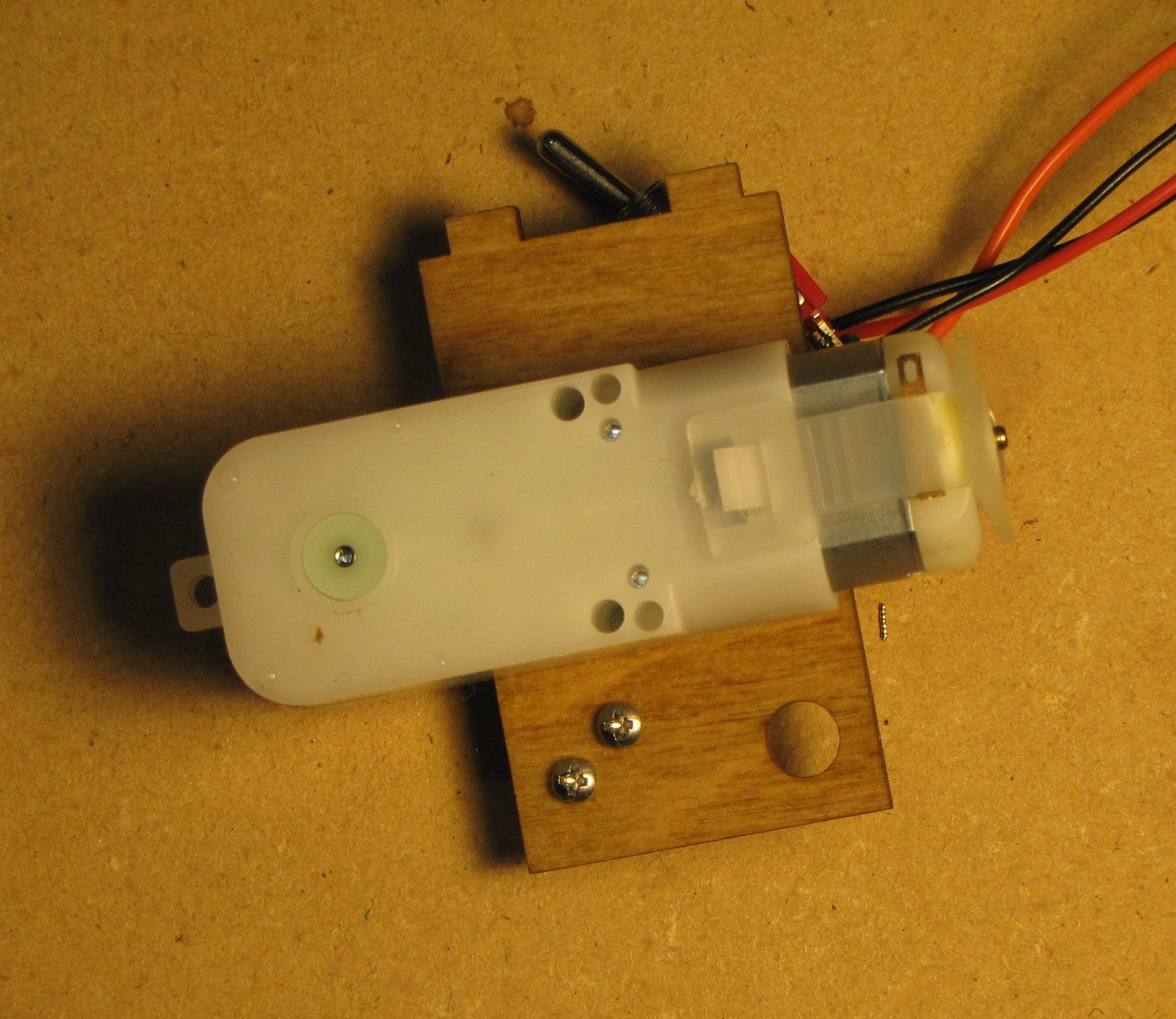 Picture of Attach Micro Switch to Large Plate