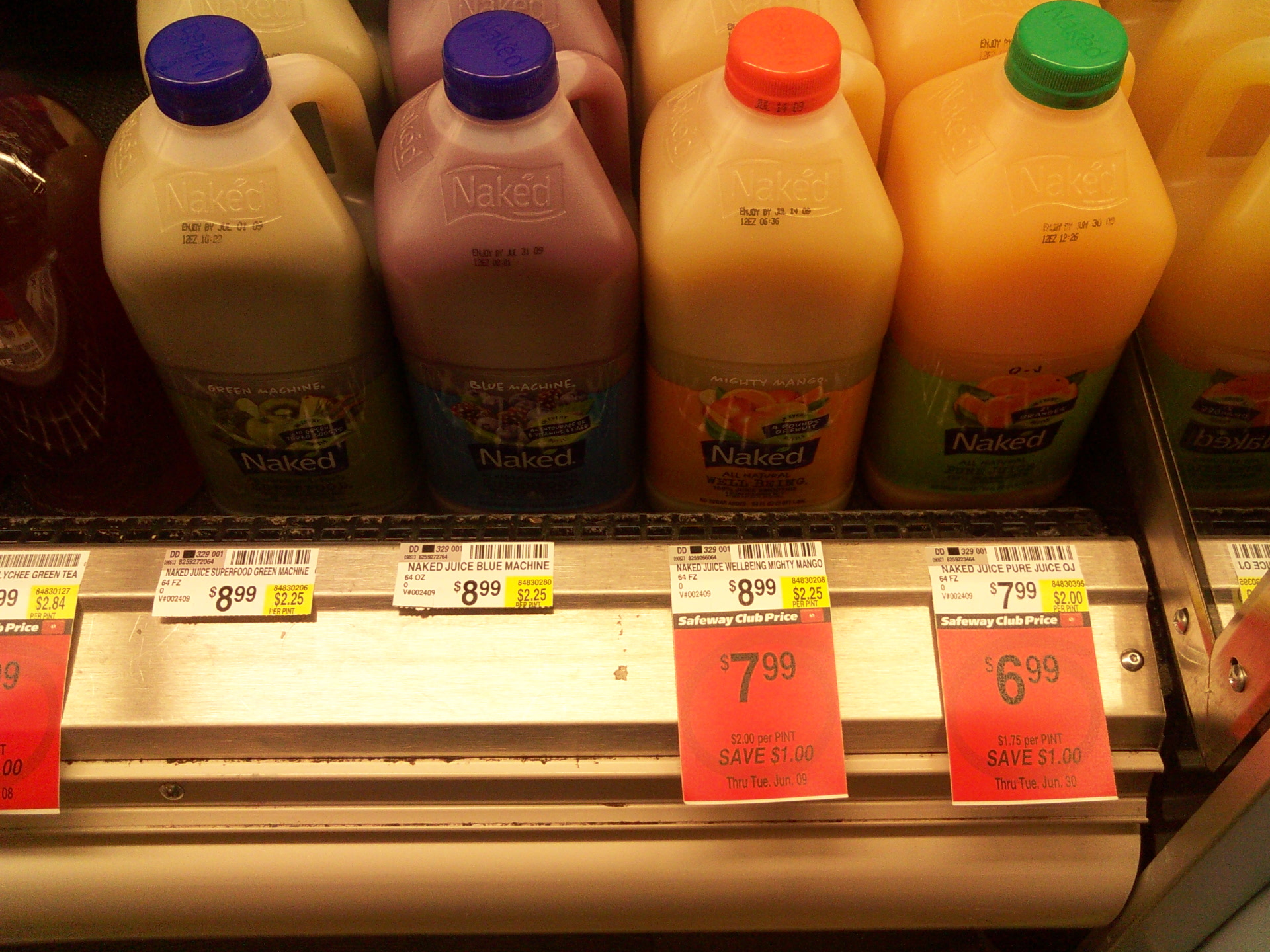 """Picture of """"Naked"""" Juice: $16.00 / Gal"""