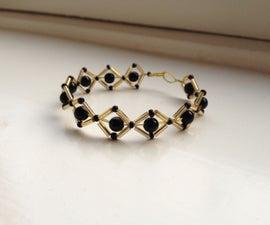 Simple Black and Gold Bracelet