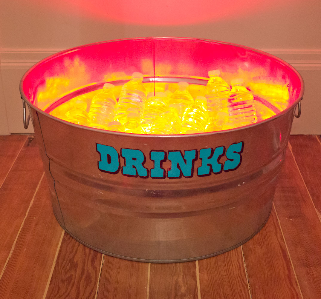 Picture of Stenciled Drink Tub With LED Lights