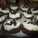 Chocolate Cookies with Lemon Topping