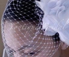 {Christine} How to make a birdcage wedding veil