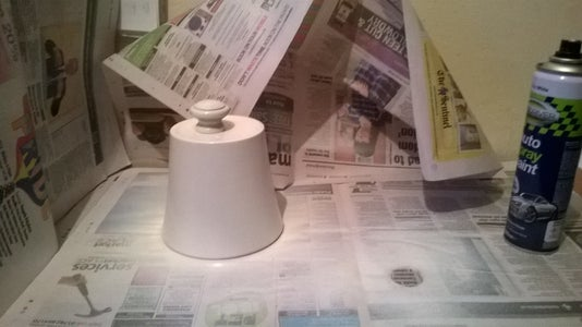 Spray Painting the Items