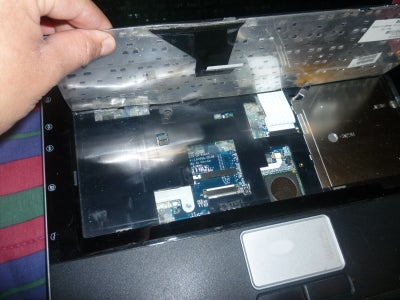 Removing Key Board Keys and Board From Computer