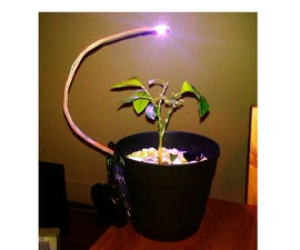 Battery powered LED grow light