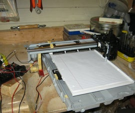 XY plotter from HP printer/scanner