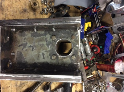 Bandsaw Blade Tensioner Box & Mounting of the Right Axle Assembly