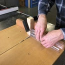 How to cut polycarbonate tubing using a table saw