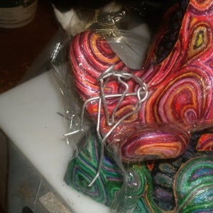 """Yarn Covered Sculpture - """"Contemplating the Universe"""""""