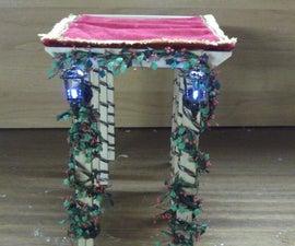 How To Create a Miniature Christmas Pergola