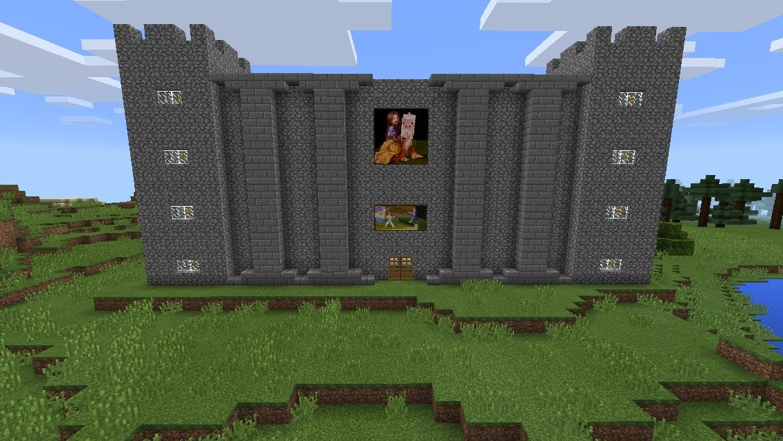 How To Make A Minecraft Castle 6 Steps Instructables