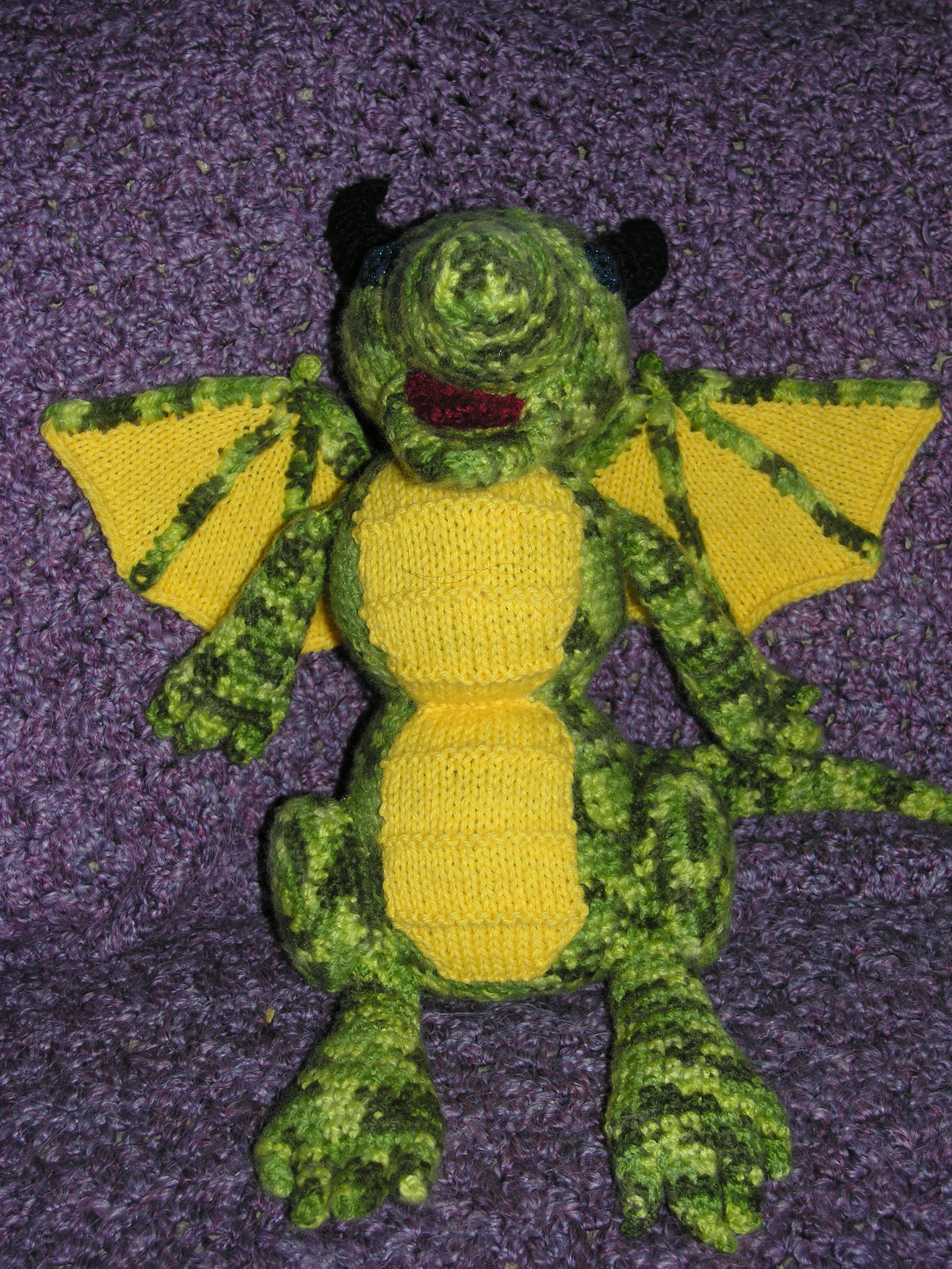 Picture of Crochet Dragon Toy