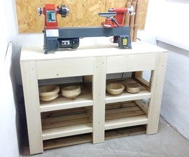 Lathe stand / drawer cabinet made from pallets