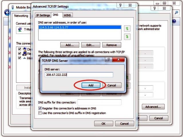 Picture of Enter Your DNS Server Address