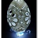 carved Easter eggshell