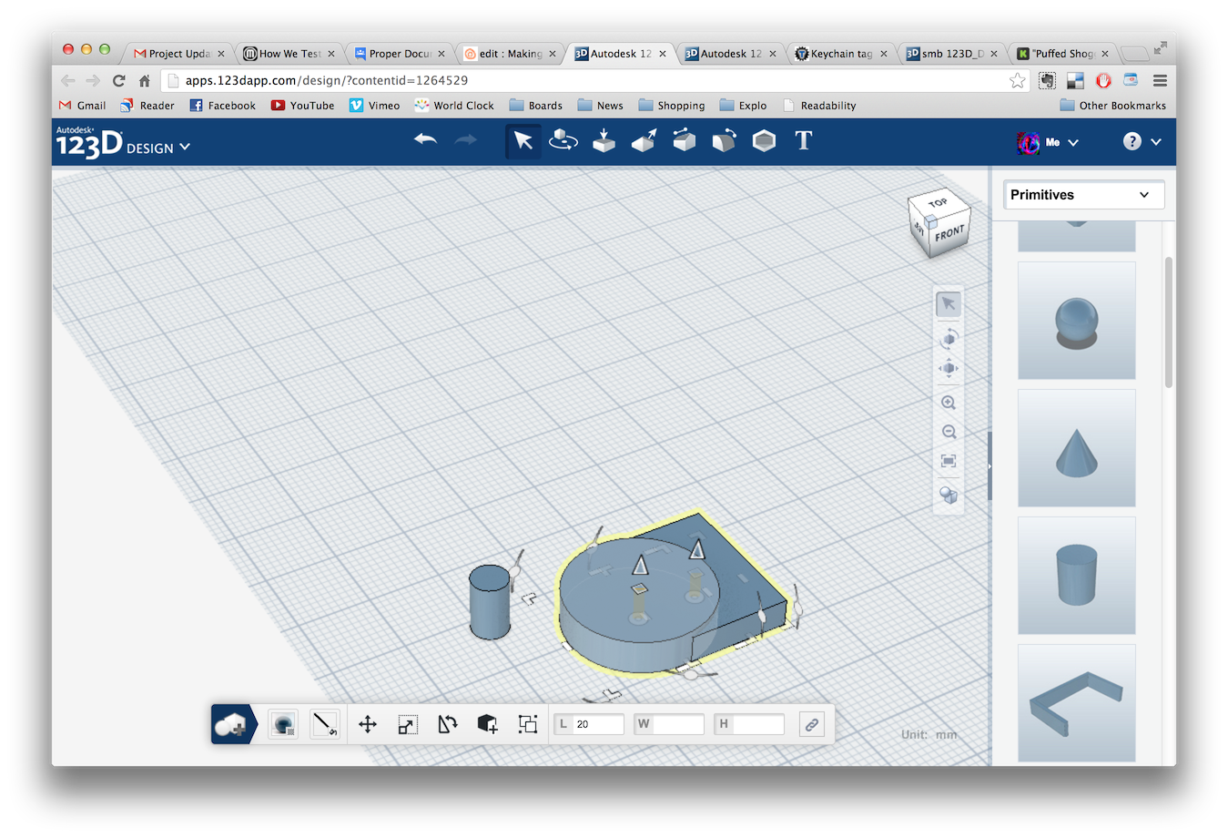Picture of Adding Geometry and Joining Parts
